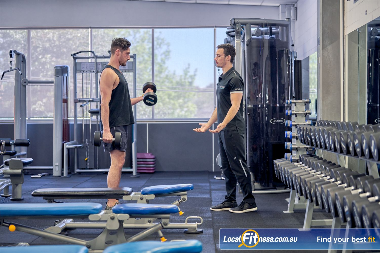 Goodlife Health Clubs Near Surrey Hills Pump up your biceps with our full range of dumbbells and barbells.