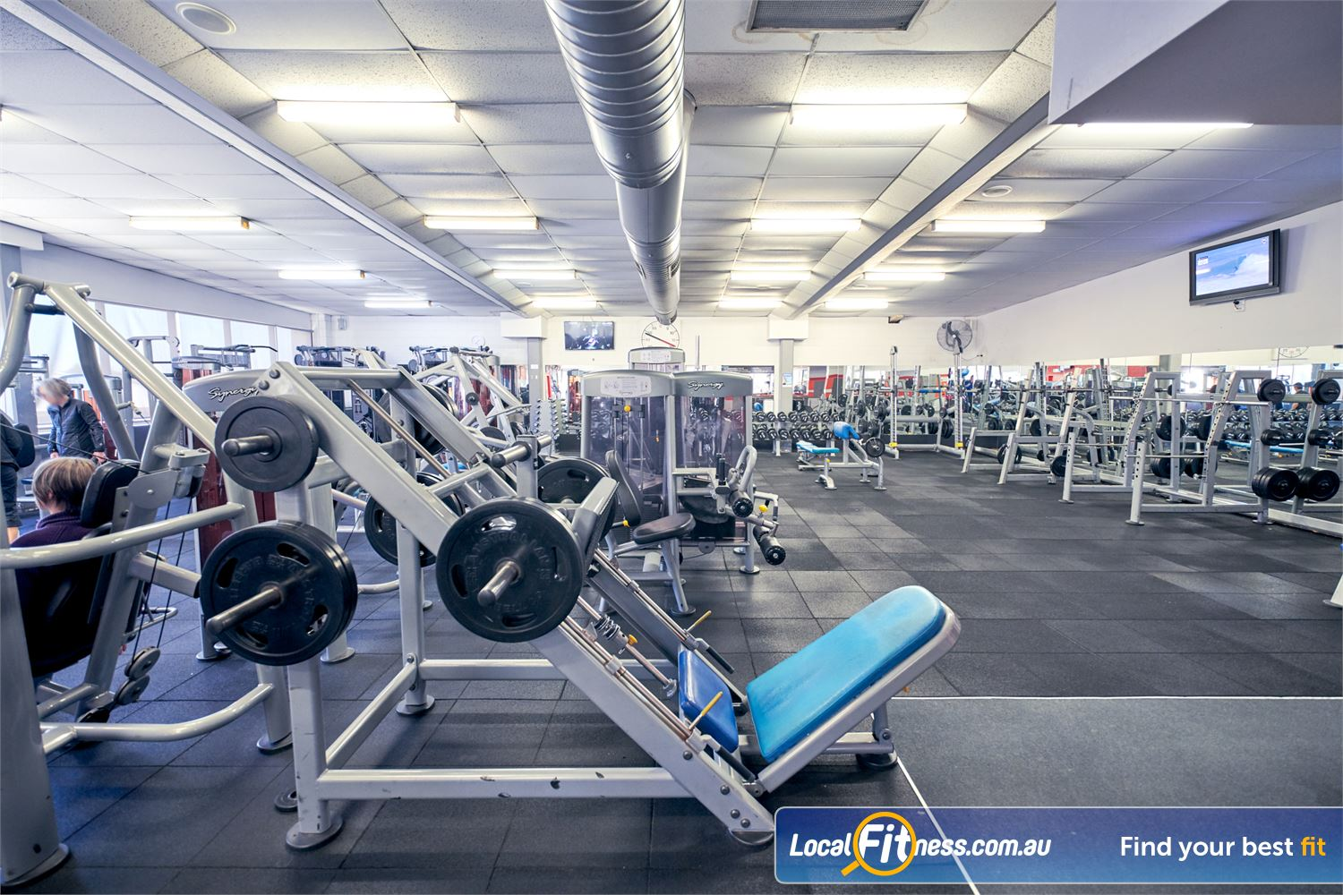 Goodlife Health Clubs Near Canterbury Our free-weights area includes a full range of plate loading machines.