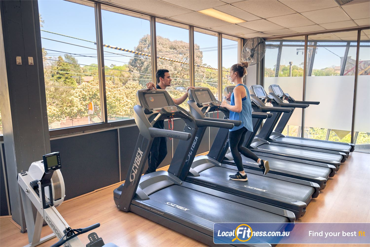 Goodlife Health Clubs Near Surrey Hills Our cardio area provides scenic views of the Balwyn streets.