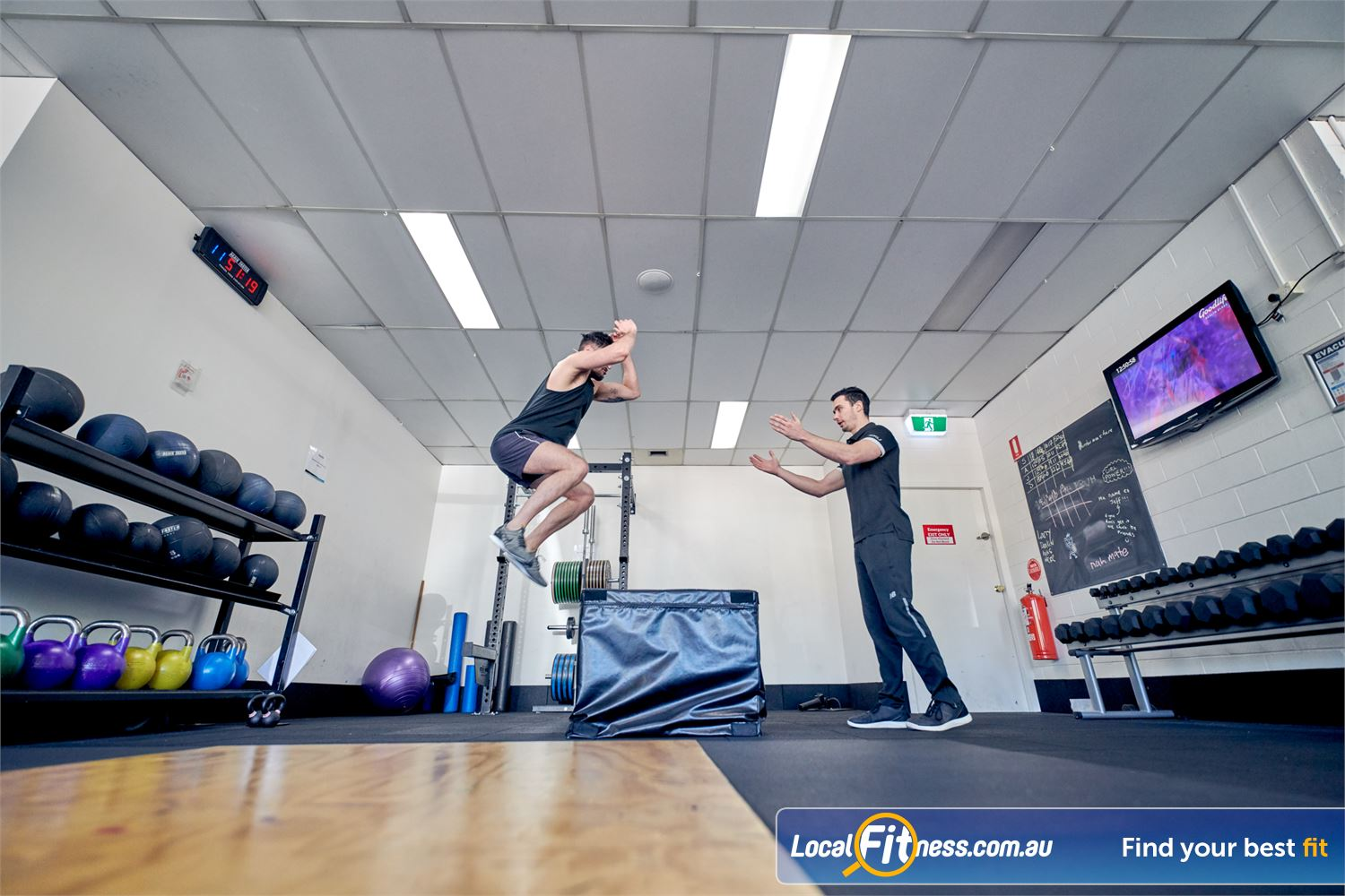 Goodlife Health Clubs Balwyn Increase your plyometrics using our foam plyo boxes.