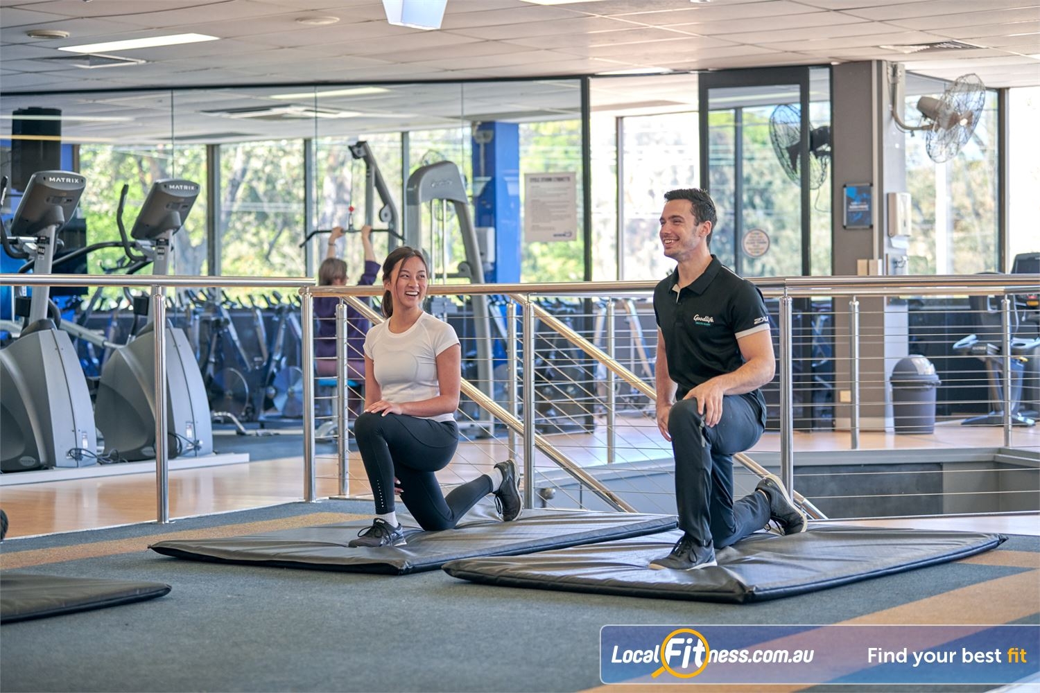 Goodlife Health Clubs Near Surrey Hills Our helpful team can take you through a stretching routine.