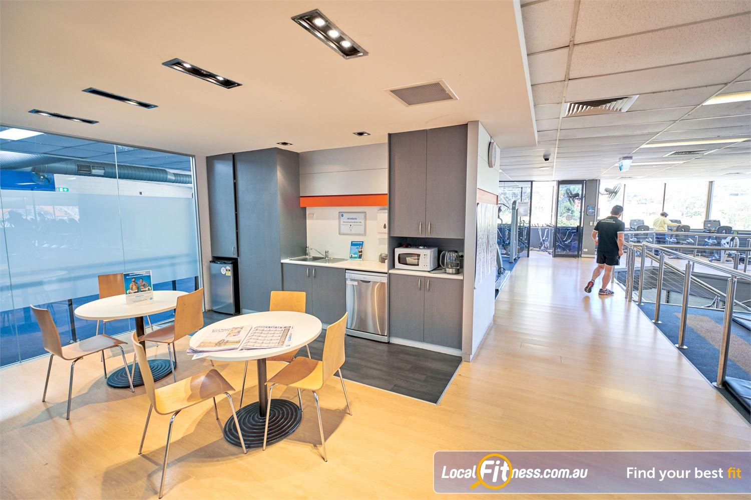 Goodlife Health Clubs Near Canterbury Our member's lounge includes kitchen facilities.