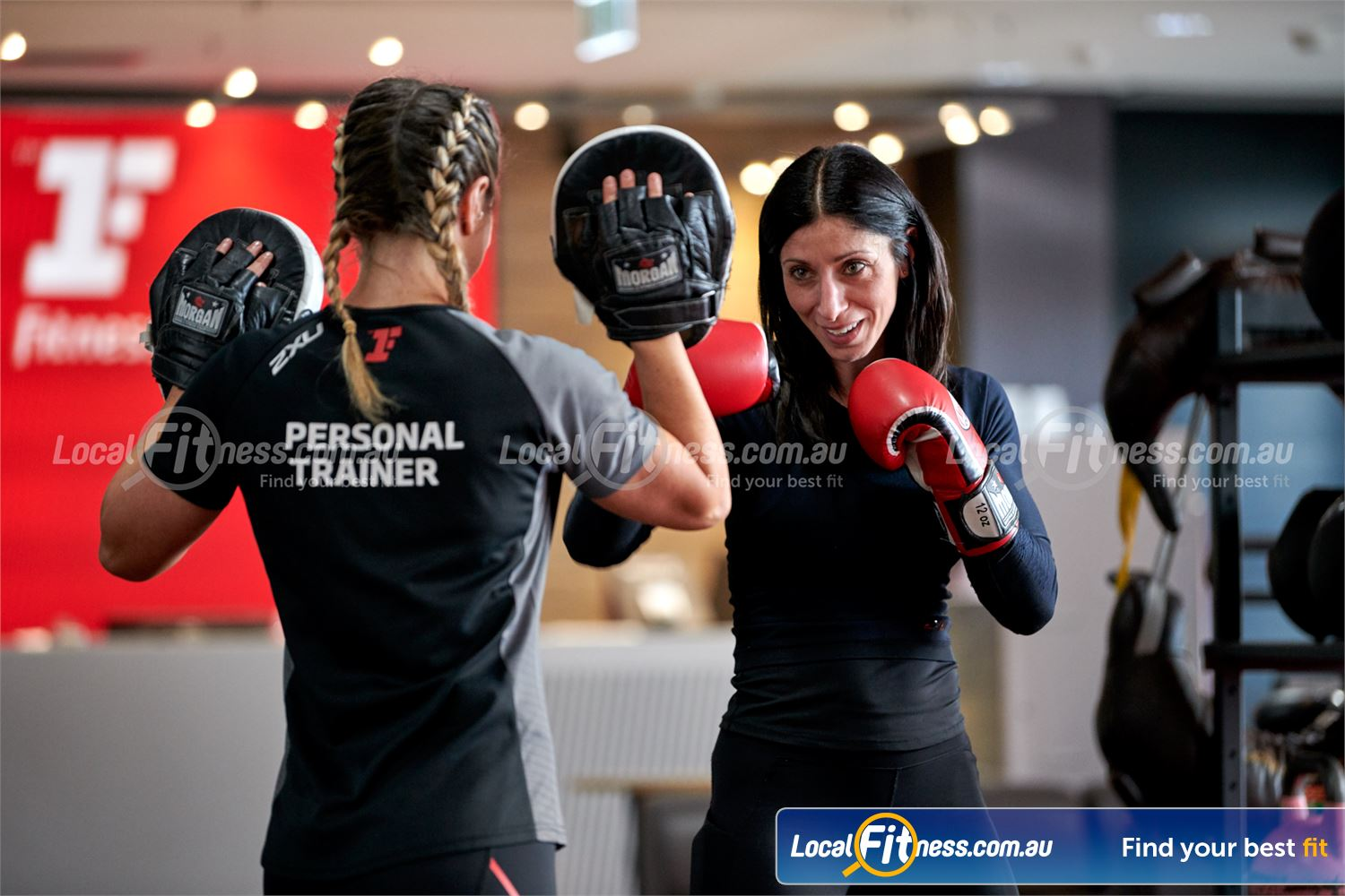 Fitness First Near Manuka Our Deakin personal trainers can take you through a boxing workout.