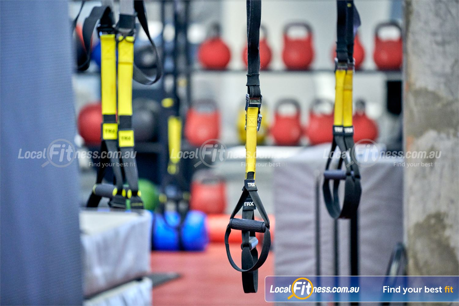 Fitness First Deakin Our Deakin gym includes TRX suspension training.