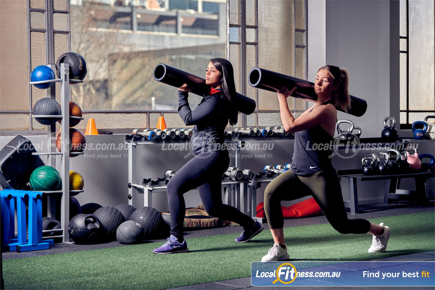 Fitness First Near Yarralumla ViPR training is a great way to improve full body strength at Fitness First Deakin.