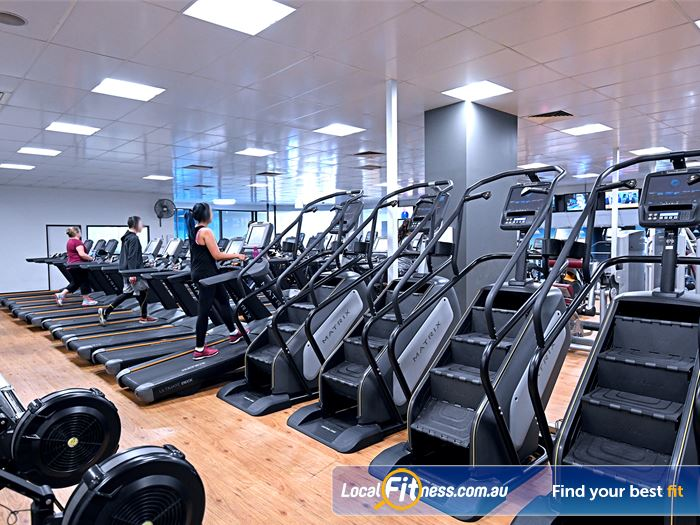 Goodlife Health Clubs Bayswater Gym Fitness Rows of cardio machines so you