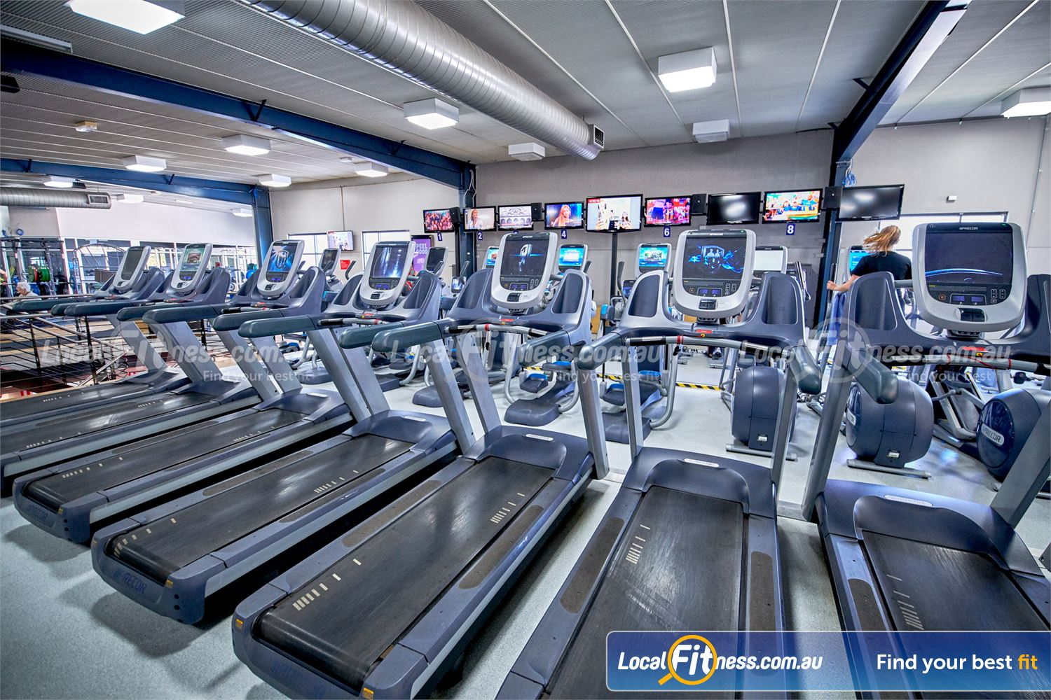 Fitness First Bayside Highett Our Bayside gym includes a fully equipped cardio area.
