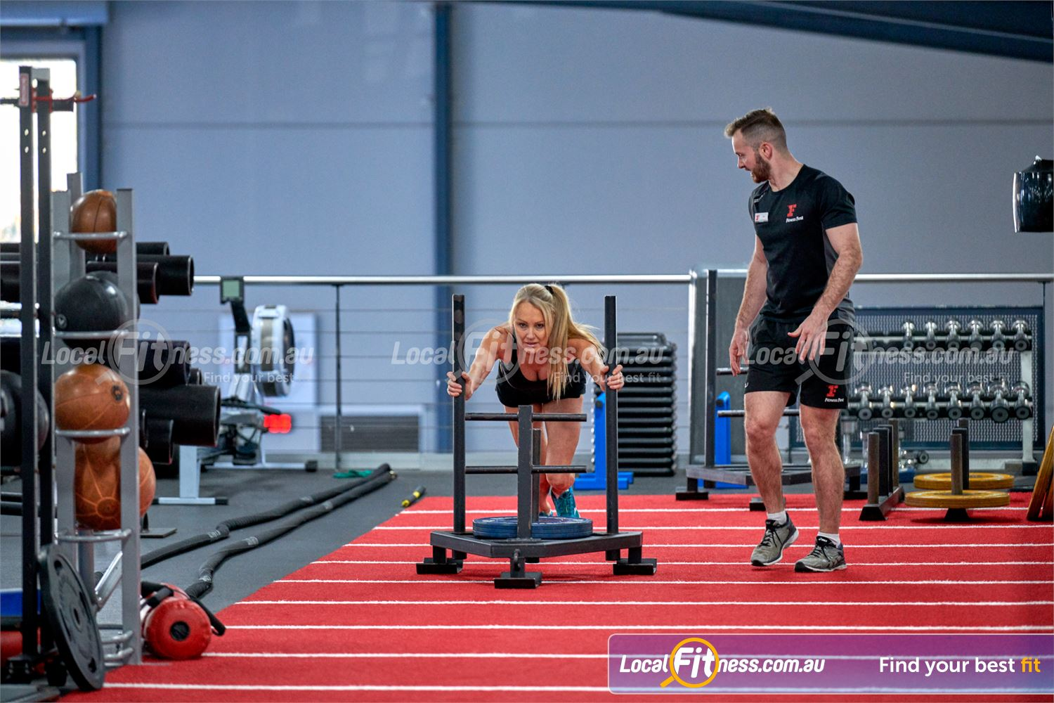 Fitness First Bayside Near Cheltenham Our Bayside personal training can show you how to do prowler sled runs.