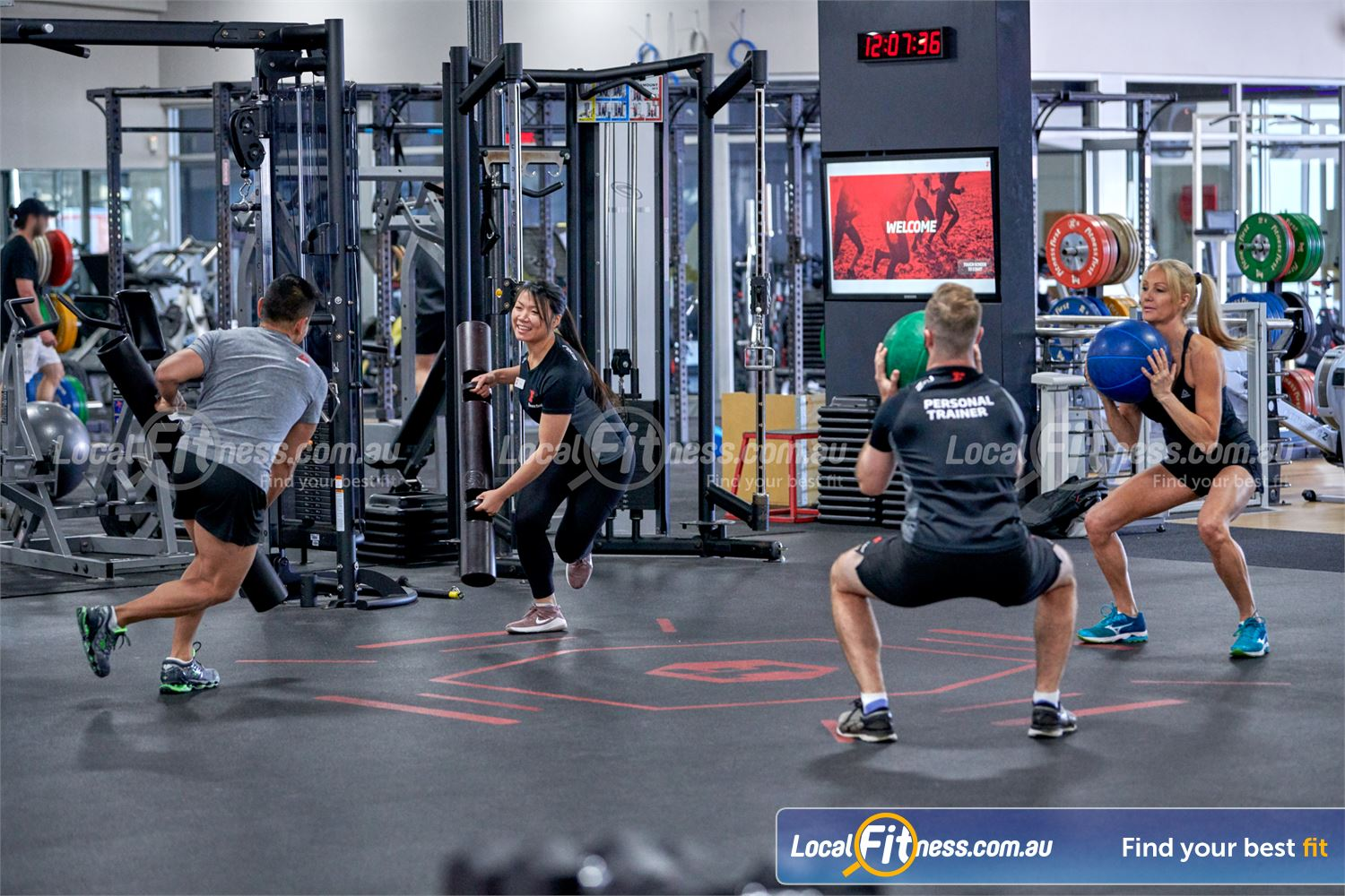 Fitness First Bayside Near Black Rock Strength-based functional classes in our freestyle area run daily.