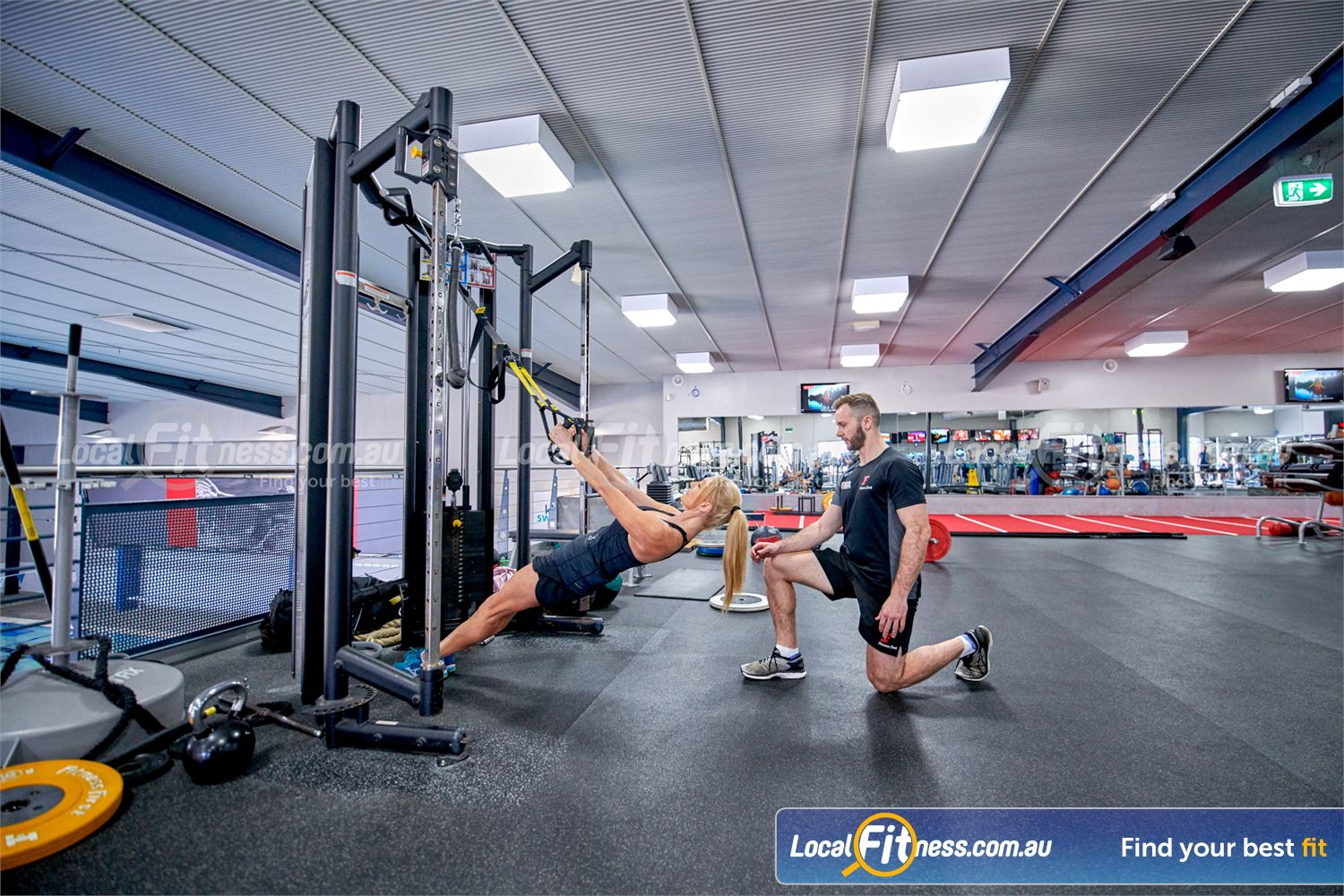 Fitness First Bayside Highett Our bayside gym team can help improve your core and stability with TRX training.