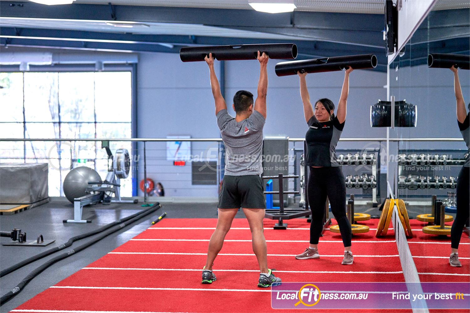 Fitness First Bayside Highett Get into functional movements with ViPR training.