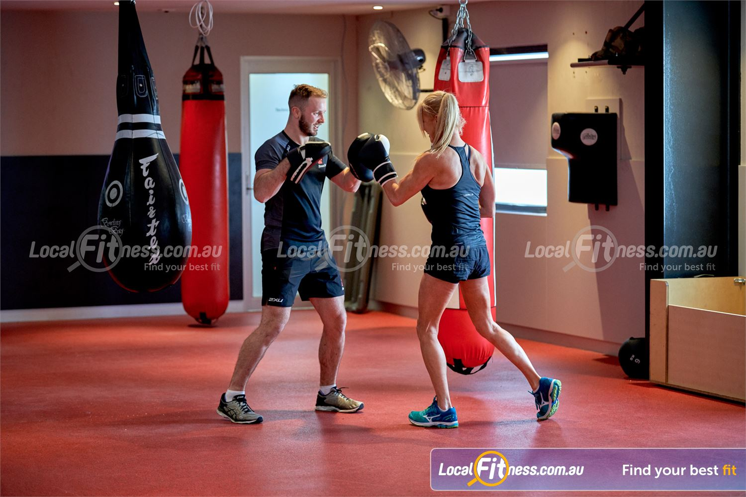 Fitness First Bayside Near Cheltenham Our Bayside personal trainers can give you a cardio boxing workout.