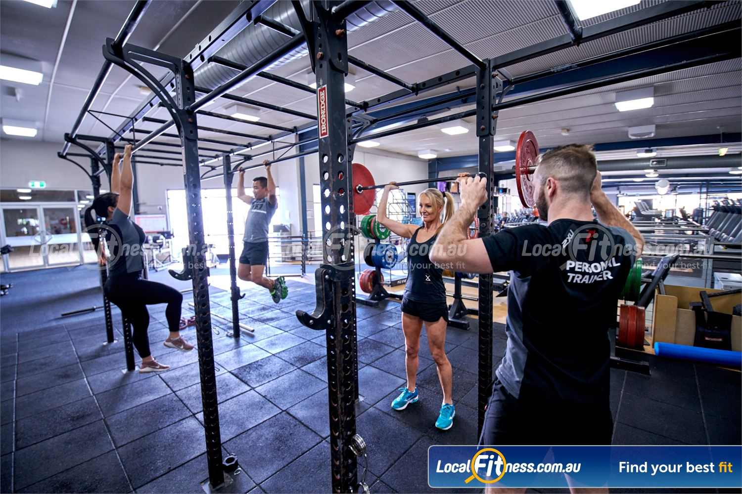 Fitness First Bayside Near Black Rock High-performance strength matrix perfect for shoulder presses, chin-ups and more.