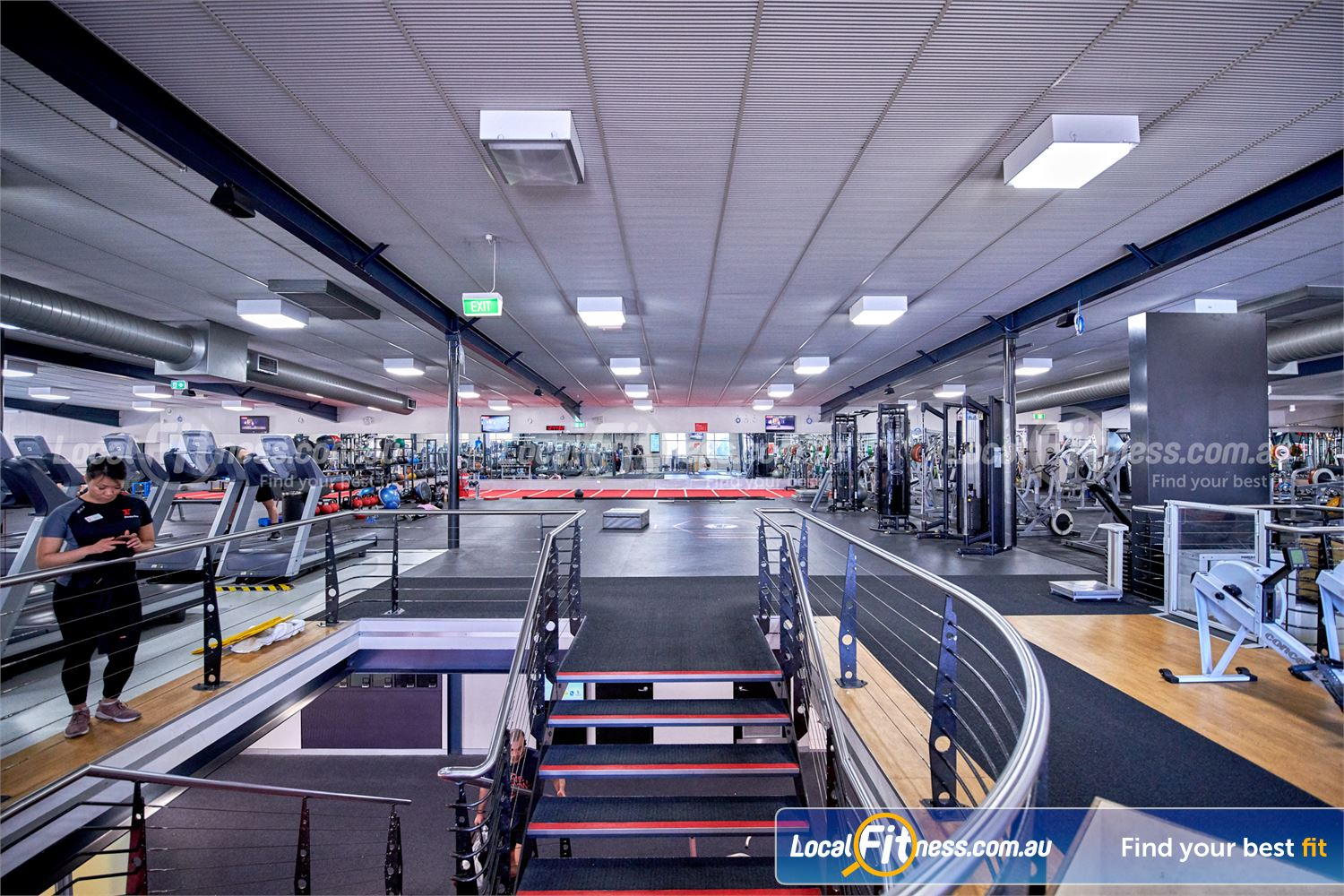 Fitness First Bayside Near Bentleigh 2 Level Bayside gym providing an innovative fitness experience.