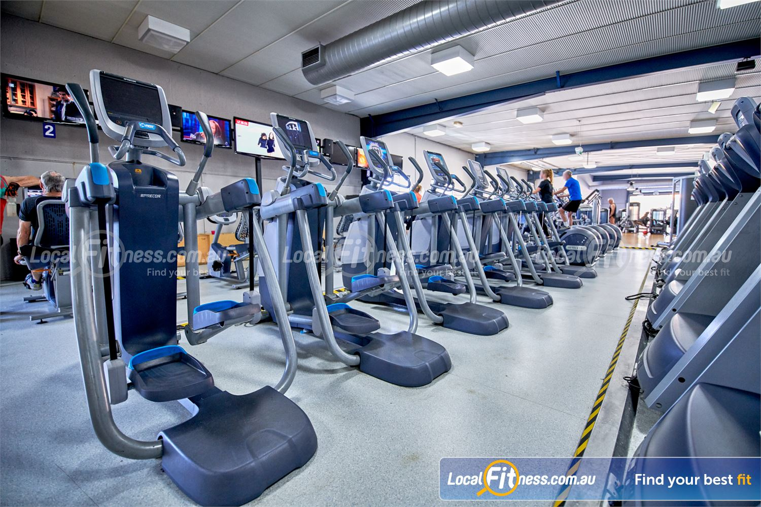 Fitness First Bayside Near Cheltenham Multiple Precor Adaptive Motion Trainer with open stride.<br />