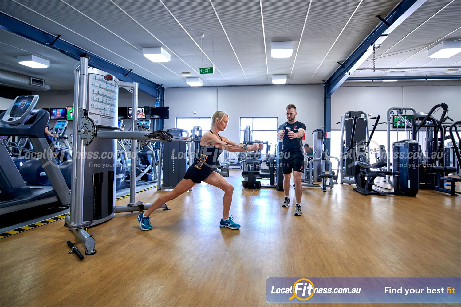 Fitness First Bayside Near Black Rock The Paramount functional trainer is a great way to get full range of movement.
