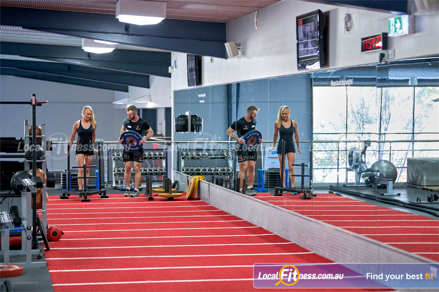 Fitness First Bayside Highett Sled training is a great way to increase your heart rate and cardio.