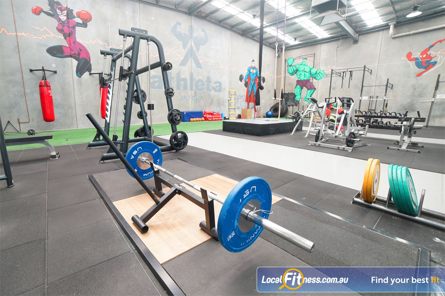 Athleta Gym Near Williamstown Get into strength training with our olympic lifting platforms.