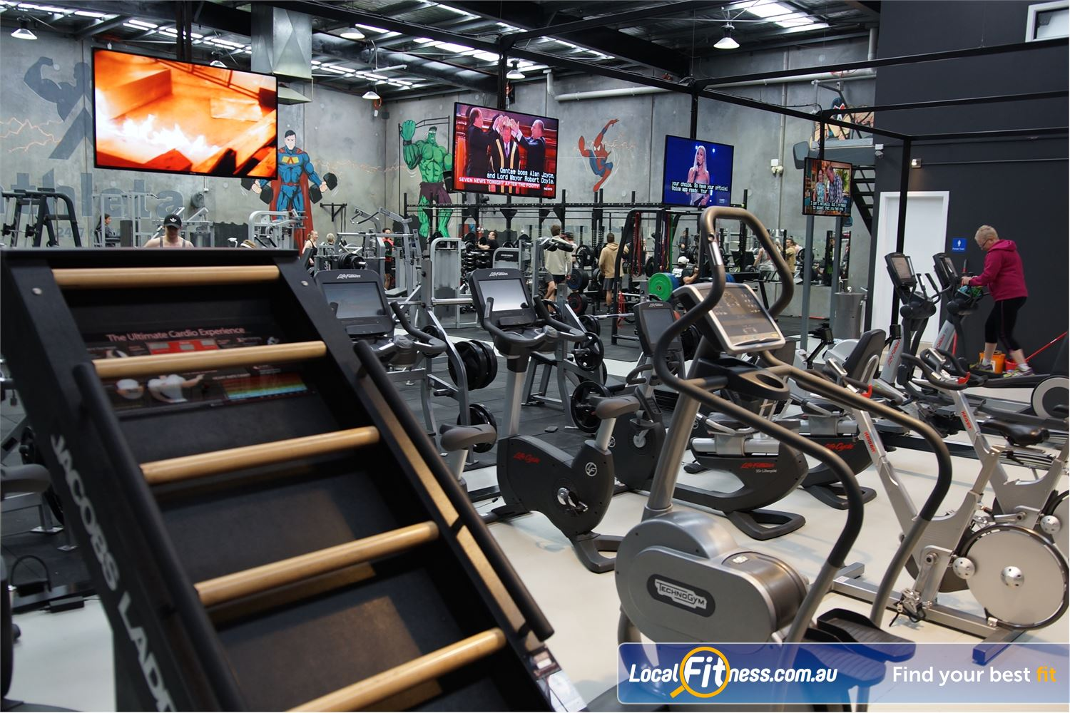 Athleta Gym Near Seaholme Try the Jacobs ladder cardio machine to vary your workout.