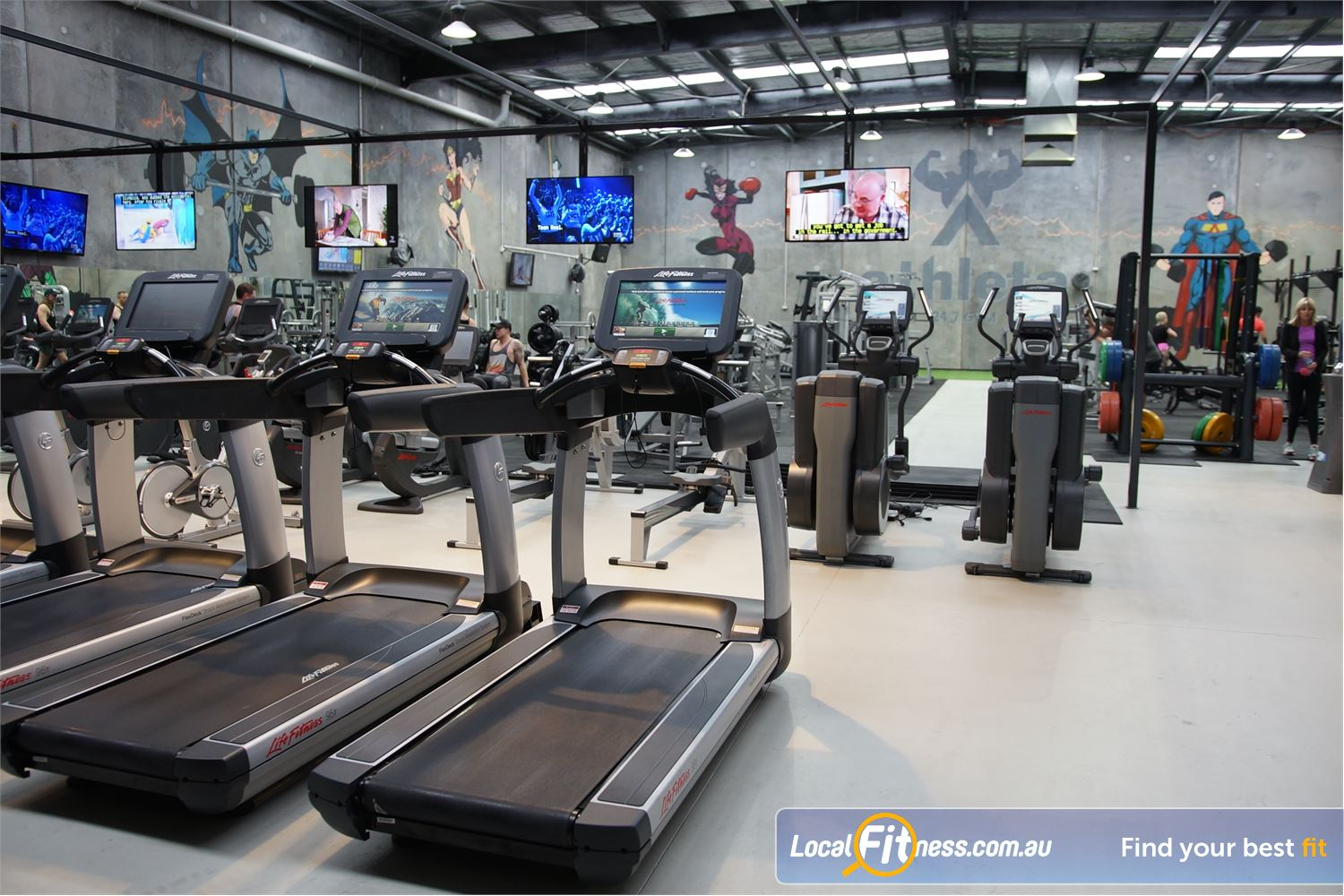 Athleta Gym Williamstown North Tune into your favourite shows in our cardio theatre.