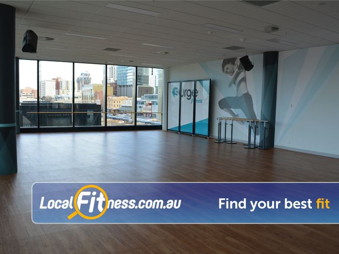Surge Fitness Perth Over 30 group fitness classes per week.