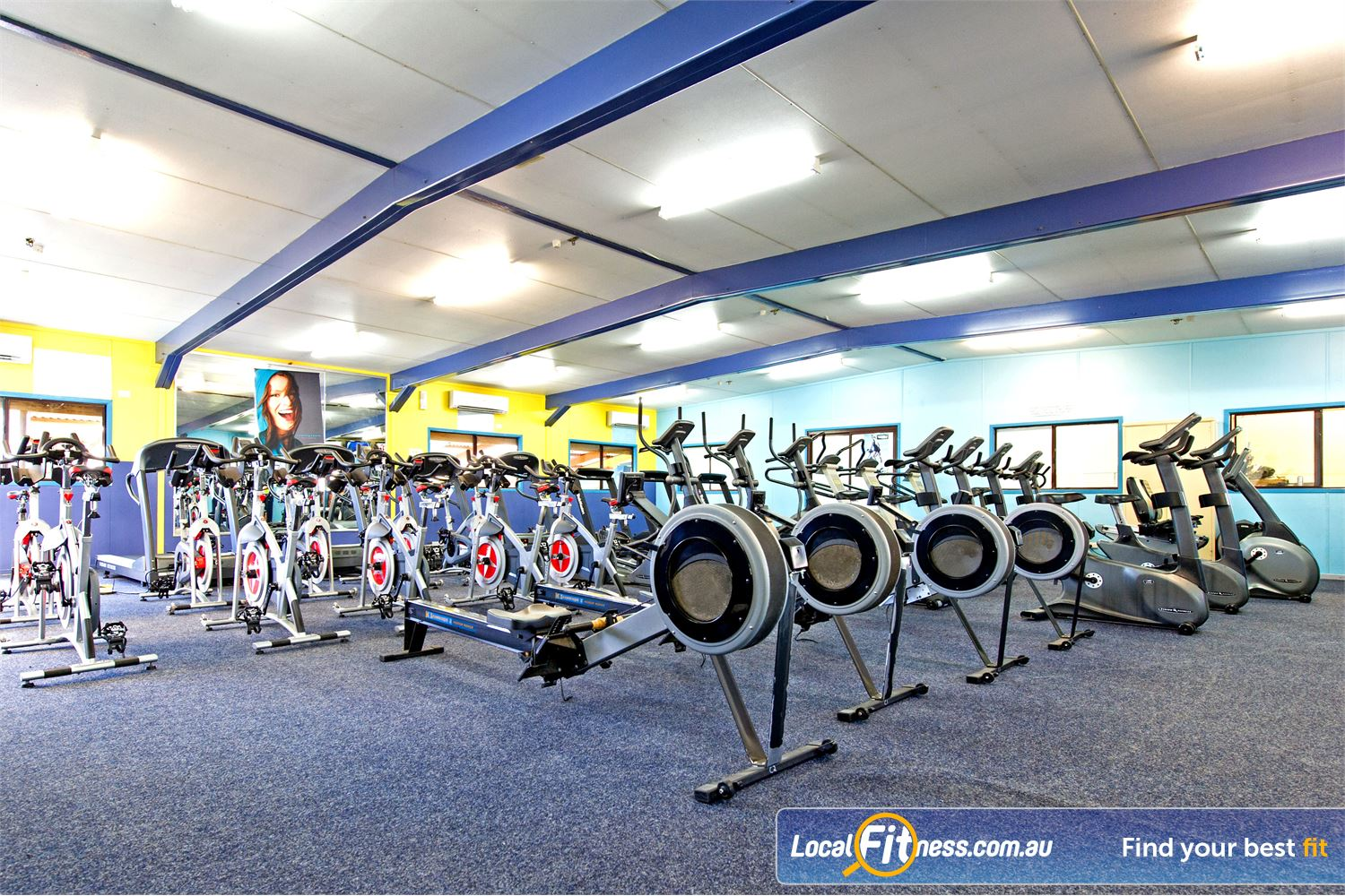 Waves Fitness and Aquatic Centre Baulkham Hills Comprehensive range of cardio equipment includes treadmills, rowers, and more.