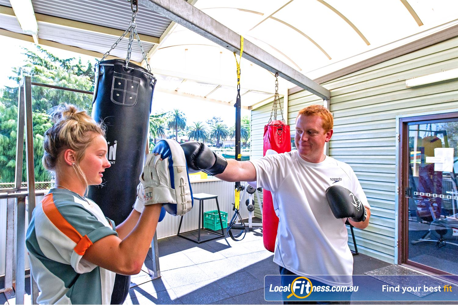 Waves Fitness and Aquatic Centre Near Winston Hills Baulkham Hills personal trainers can mix your training up with boxing.