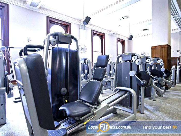 Goodlife health clubs gym adelaide marble columns