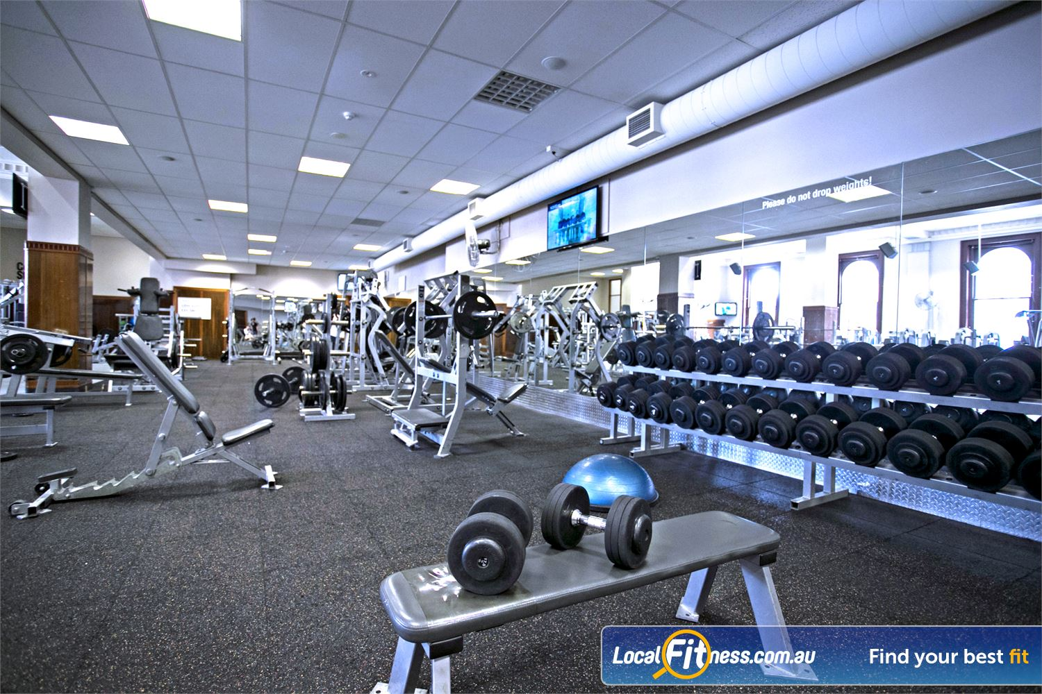 Goodlife Health Clubs Adelaide City Near Adelaide Airport Our free-weights area is full equipped with dumbbells, barbells, benches and more.