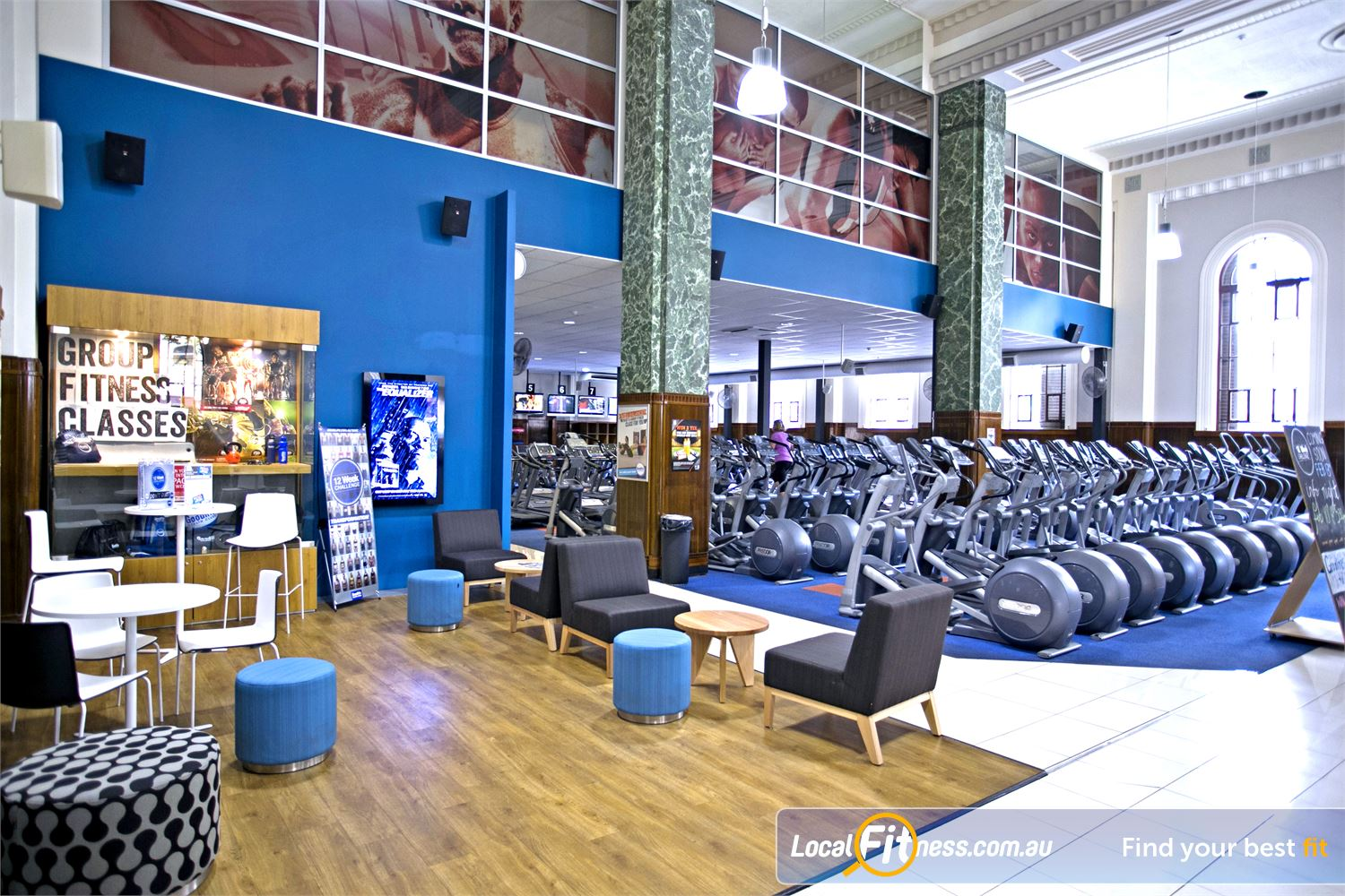 Goodlife Health Clubs Adelaide City Adelaide Relax in our spacious members lounge.