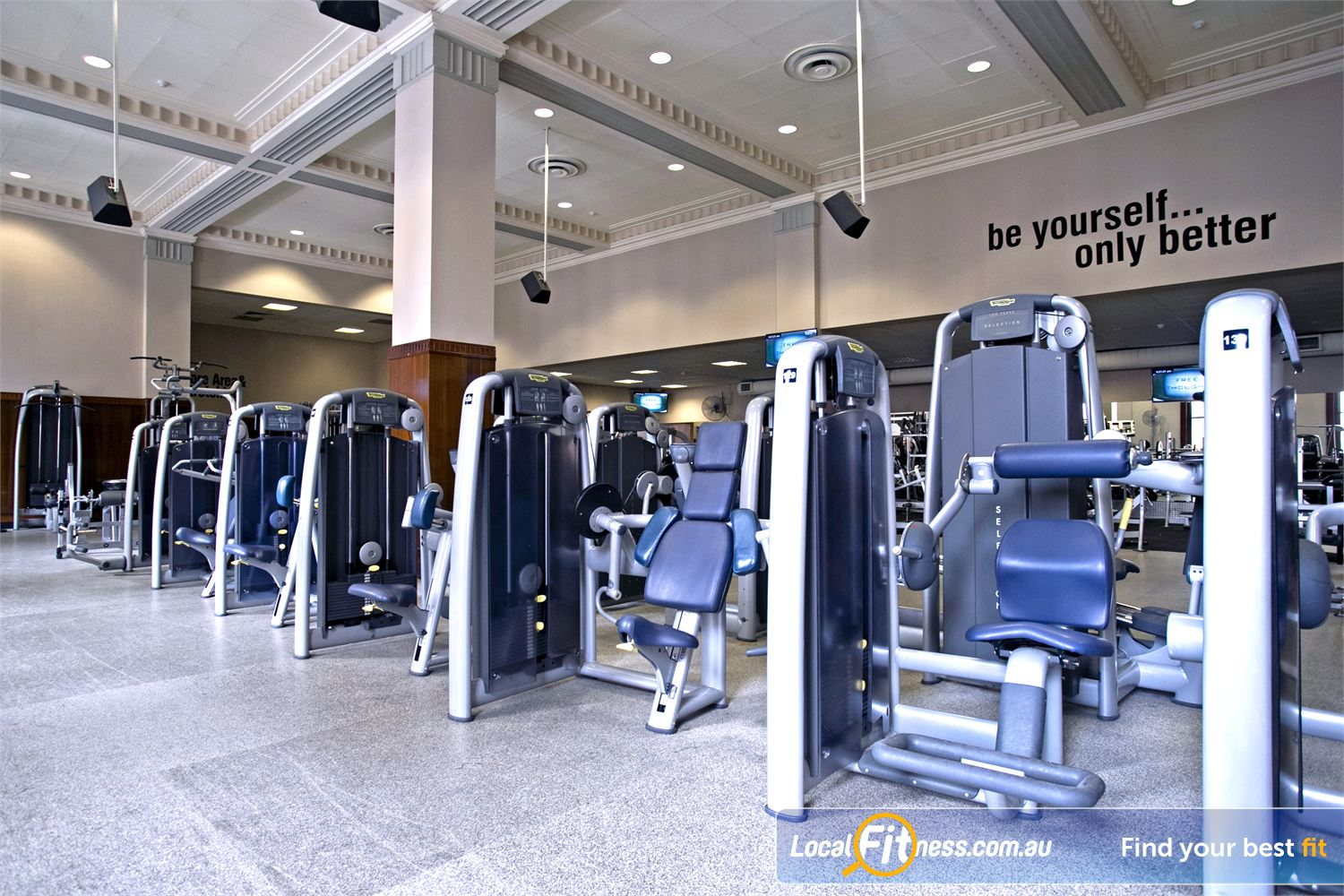 Goodlife Health Clubs Adelaide City Near Adelaide Airport Our Adelaide gym features marble floors and state of the art pin-loaded equipment.