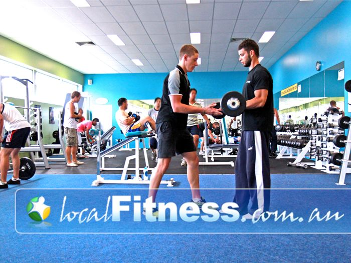 Zone Fitness Dandenong The spacious free-weights area in our Dandenong gym.
