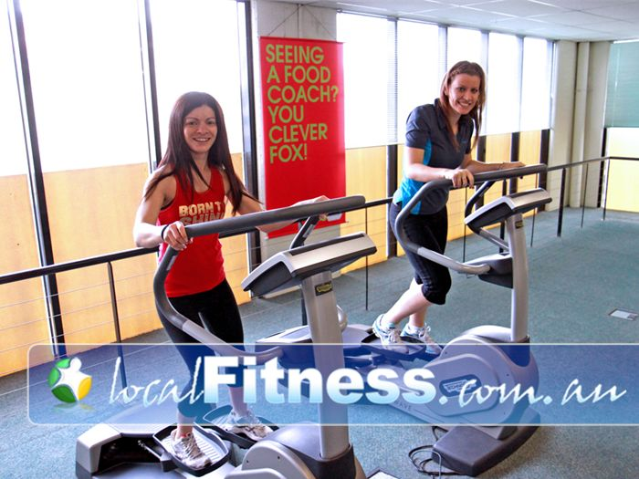 Fernwood Fitness Epping The technoGym cardio wave helps focus and toning women's bums and thighs.