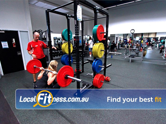 Burwood Fitness Centre Burwood Dedicated lifting racks for squats, bench and more.
