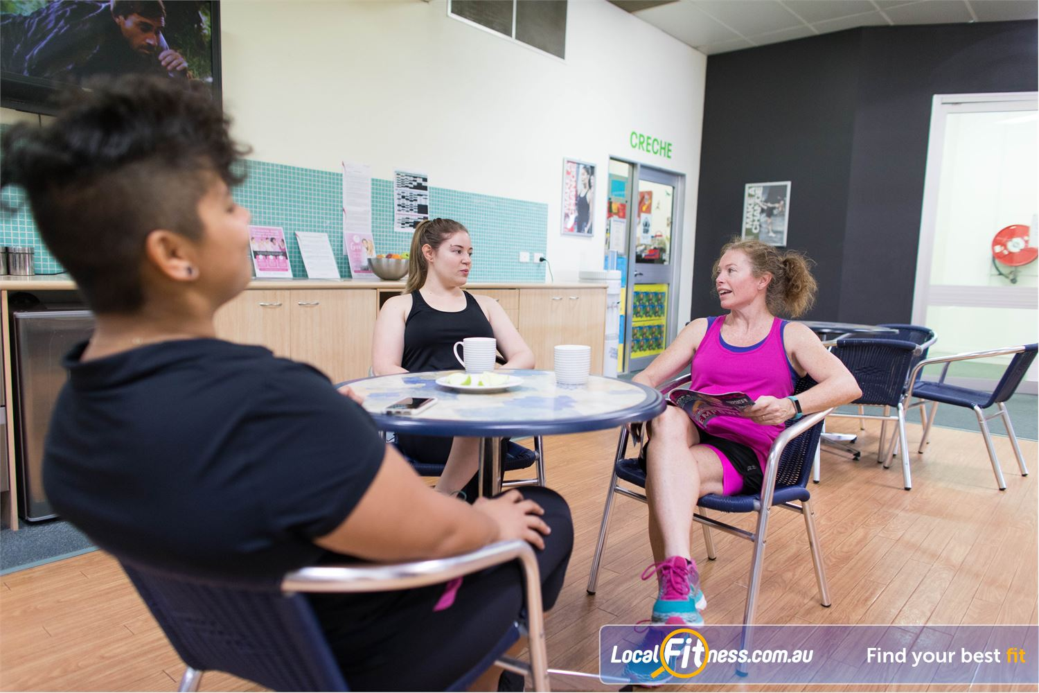 Fernwood Fitness Everton Park Enjoy the company of like-minded women in our members lounge.