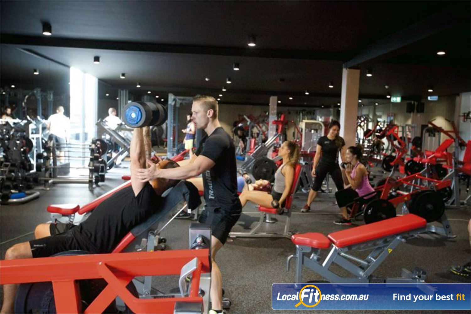 Goodlife Health Clubs Rothwell Our Rothwell gym team are ready to help you with you strength goals.