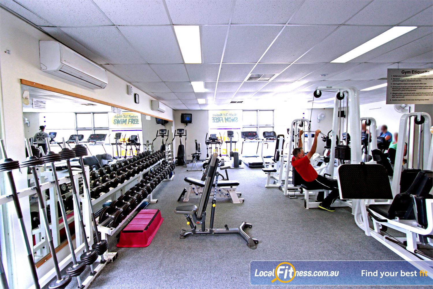 Yarra Recreation Centre Yarra Junction The intimate and friendly atmosphere at the Yarra Junction gym.