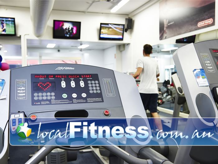 D-Club247 Fitness Near Bendigo Dc State of the art cardio area featuring treadmills, cross-trainers and more.