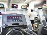 State of the art cardio area featuring treadmills,