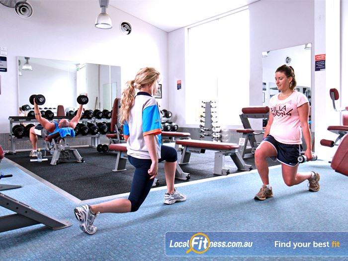 Pelican Park Recreation Centre Gym Hastings  | Fully equipped free-weights area with barbells, dumbbells, benches