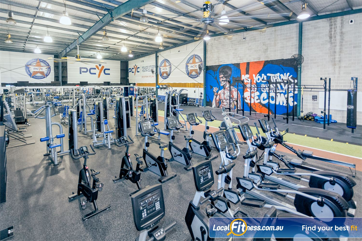 PCYC Auburn Lidcombe The spacious PCYC Auburn gym is fully equipped with over 60 machines.