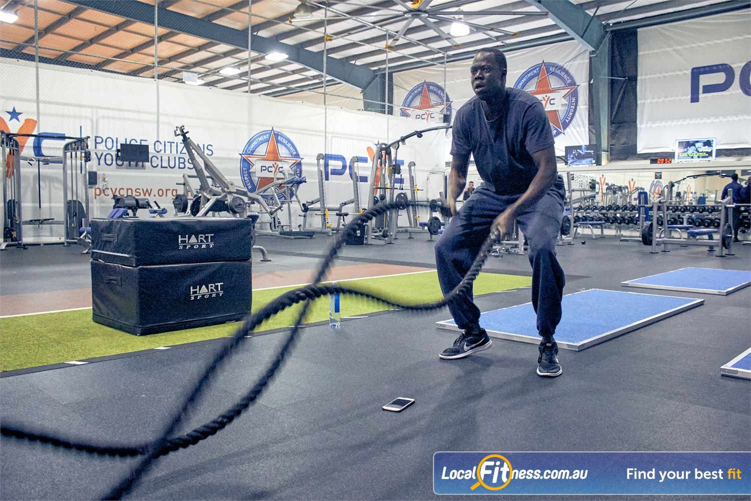 PCYC Auburn Lidcombe Challenge your fitness with functional training and battle ropes.