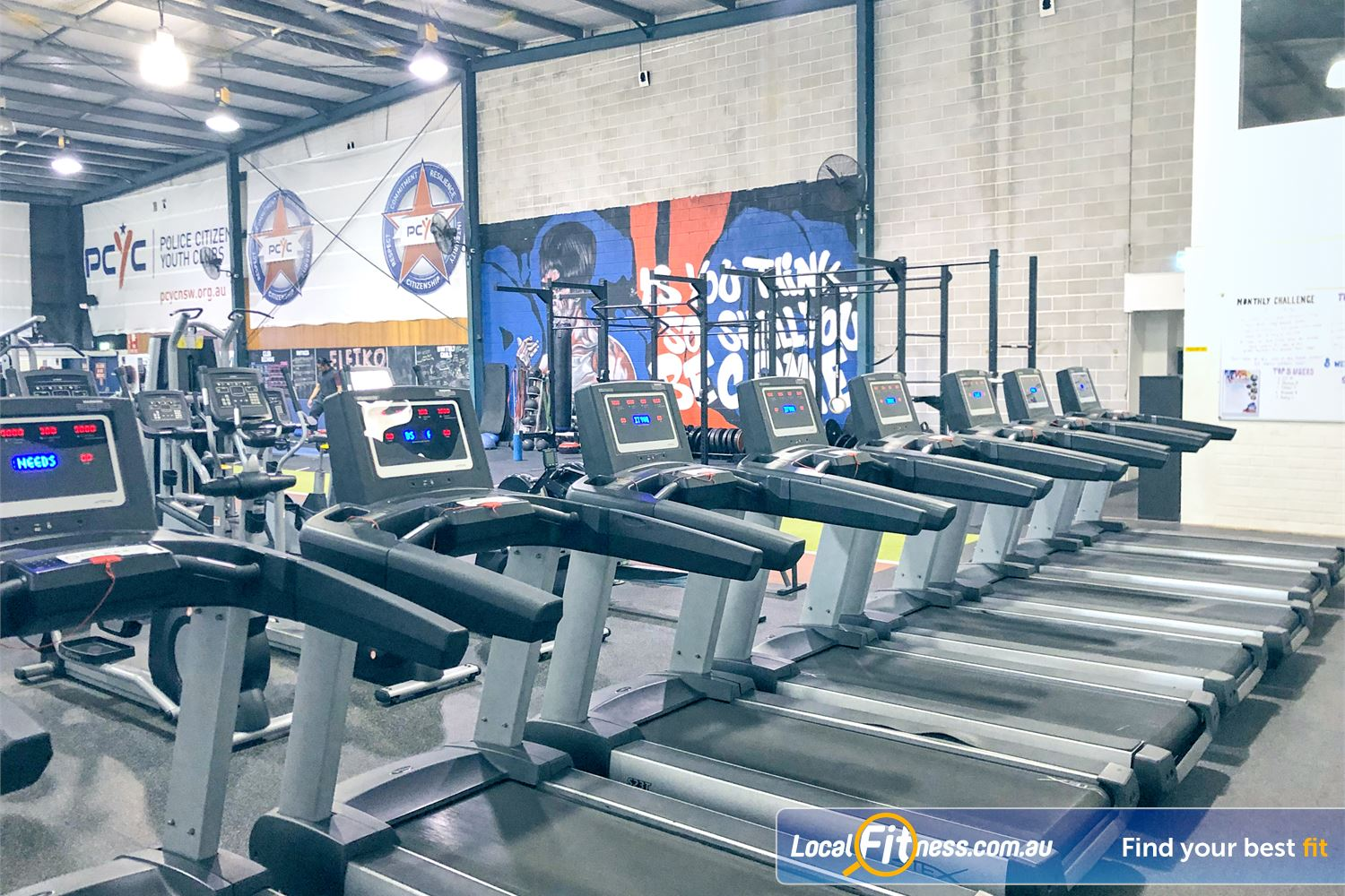 PCYC Auburn Lidcombe The state of the art cardio zone in our Auburn gym.