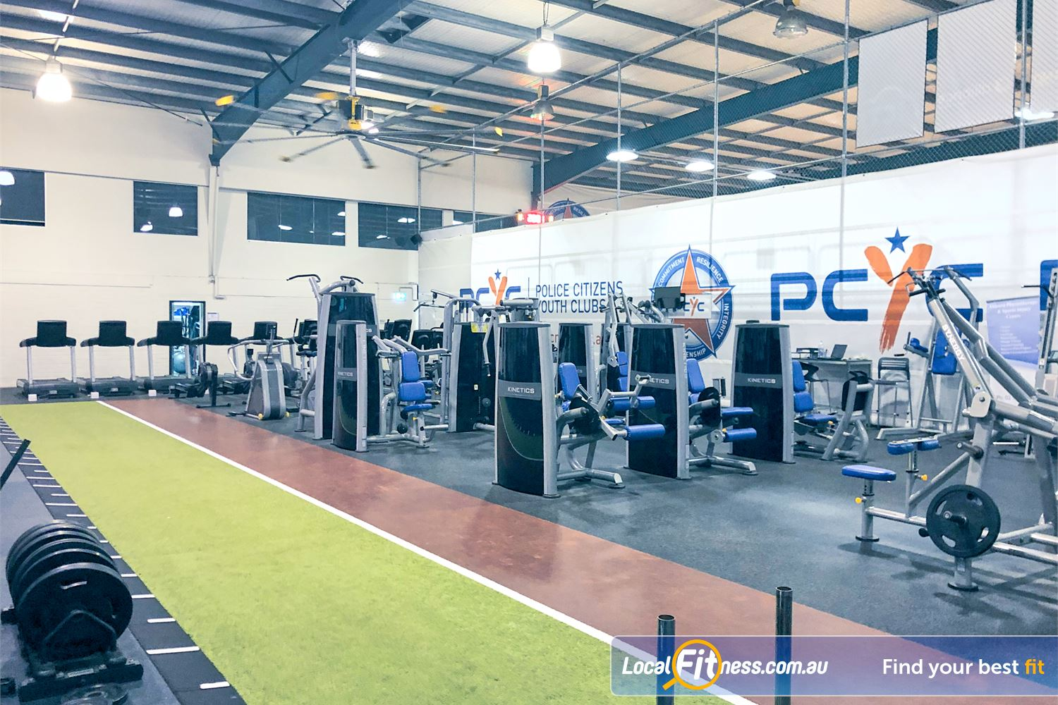 PCYC Auburn Lidcombe The indoor sled and running track in our functional training zone.