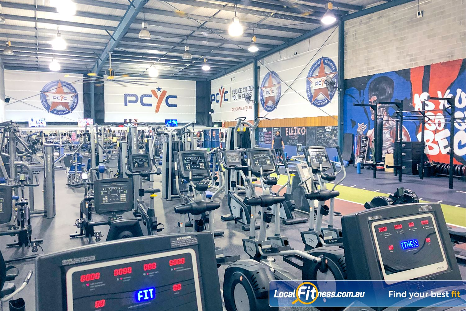 PCYC Auburn Near Regents Park Treadmills, cycle bikes, cross trainers and more.
