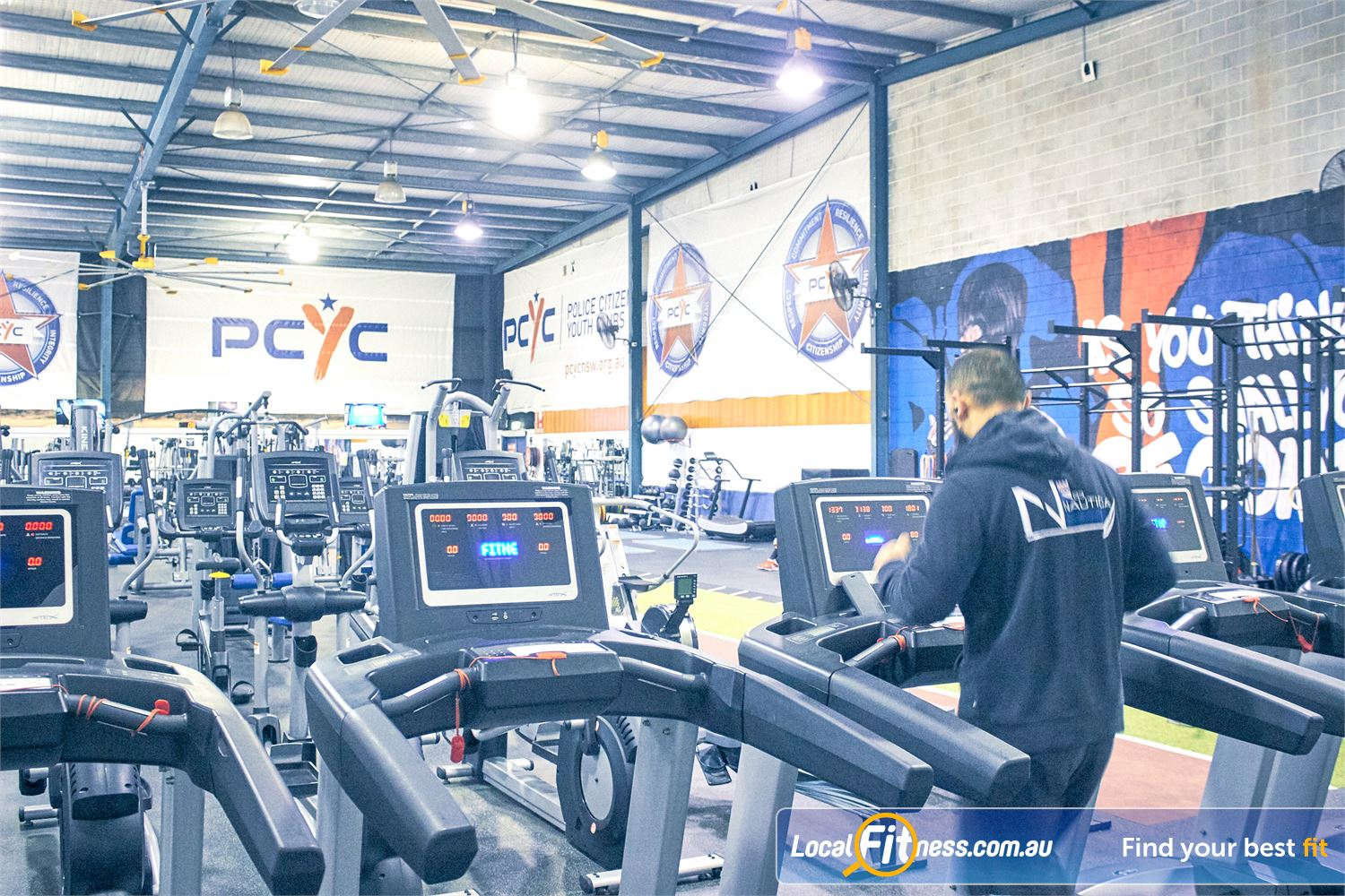 PCYC Auburn Lidcombe Our Auburn gym include state of the art cardio from STEX.