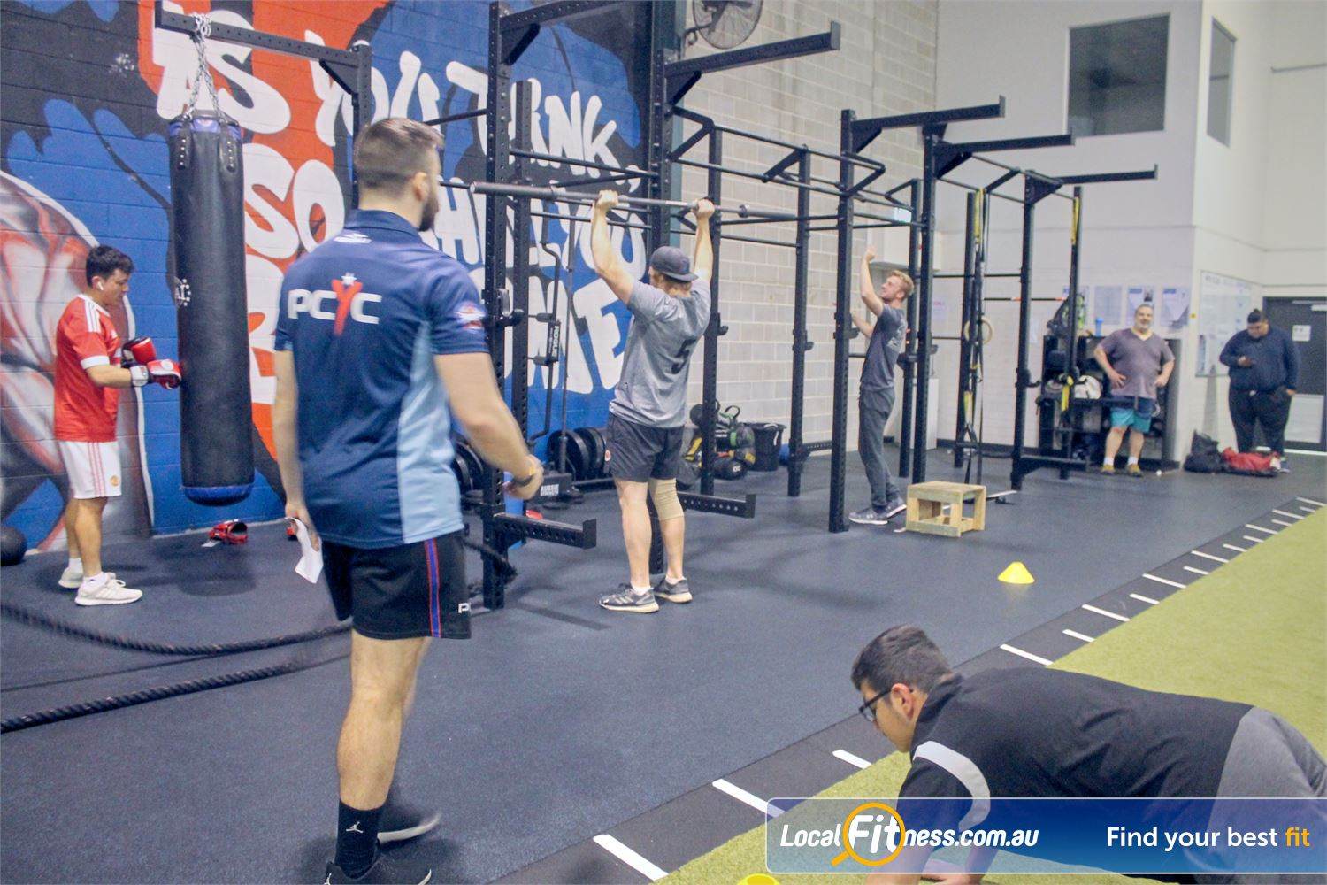 PCYC Auburn Lidcombe The hi-performance strength cage in our functional training area.