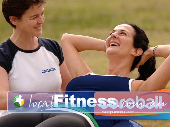 Step into Life Near Corrimal Improve core strength with fun Woonona outdoor fitness coreball session.