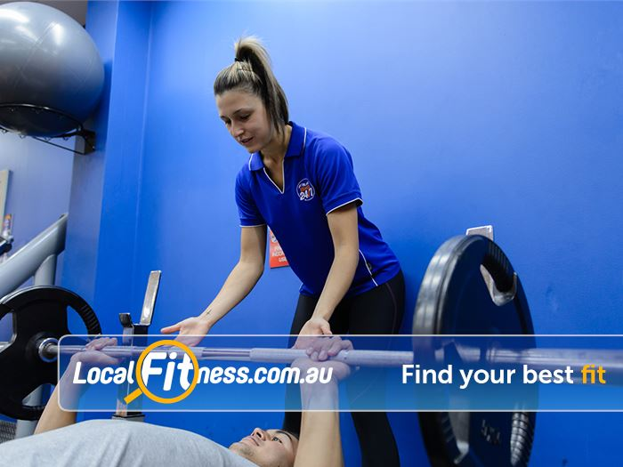 Plus Fitness Health Clubs Gladesville Gladesville personal trainers can design a strength program to suit your goals.