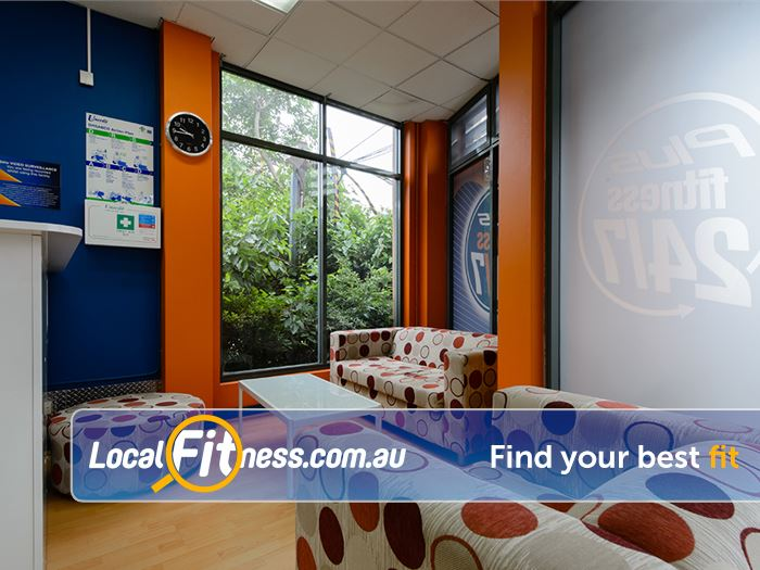 Plus Fitness Health Clubs Gladesville Relax in the comfortable members lounge.